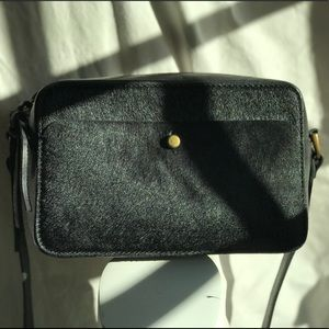 Madewell leather and calf hair crossbody